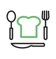 Chef Hat and Cutlery vector image