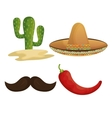 collection icons mexican culture grpahic isolated vector image