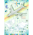 Infographic Set Elements with Airplane vector image