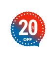 sale banner label isolated on white 20 percent vector image
