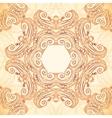 Vintage ornate seamless pattern in mehndi style vector image