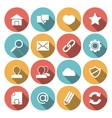 Web Icons White vector image