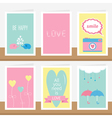 All you need is love quote text Elephant family vector image