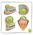 logo lawn tennis ball vector image