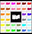 toilet paper sign  felt-pen 33 colorful vector image