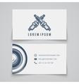 Business card template Spark plug logo vector image