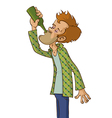 Man drinking alcohol vector image