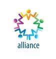 Human Alliance logo vector image vector image