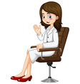Scientist sitting on chair vector image
