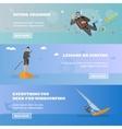 Water sport concept Horizontal banner vector image vector image