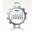 August 2014 - calendar vector image