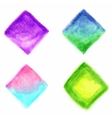 Colorful isolated watercolor paint rhombuses vector image