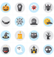 Flat Icons For Halloween Icons vector image