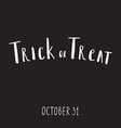 Halloween grunge modern typographic vector image