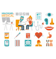 Healthcare and medical infographic vector image