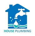 house plumbing symbol vector image