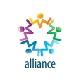 Human Alliance logo vector image