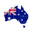 Map and flag of Australia vector image