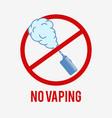 no vaping symbol vector image