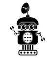 robot silhouette vector image