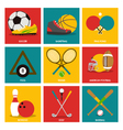 Sport icon on flat design style vector image