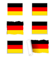 Germany flag set vector image vector image