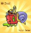 mr snail with beggar vector image