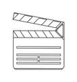 clapperboard movie icon image vector image