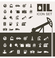 Oil Industry Flat Icon Set vector image