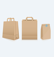 Set of three different paper bags vector image vector image