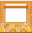 Halloween grunge background with yellow and orange vector image vector image