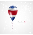 Flag of Costa Rica on balloon vector image