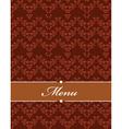 floral filigree menu vector image vector image