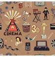 Colored Hand drawn cinema pattern vector image