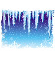 background with icicle vector image vector image
