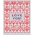 Love ornament greeting card in ethnic style vector image