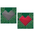 Motherboard heart vector image