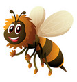 bee with happy face vector image