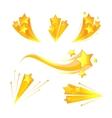 Cartoon stars burst elements vector image