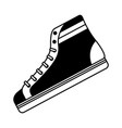 classic sneaker boot vintage sport vector image