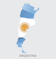 map of argentina vector image