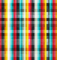 rainbow lines seamless pattern with grunge effect vector image