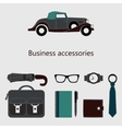 set of fashionable men accessories vector image