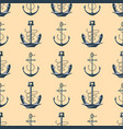 vintage retro anchor badge seamless pattern vector image