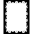 frame white vector image vector image