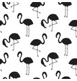 flamingo black silhouette seamless texture vector image