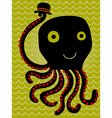 octopus salutes vector image vector image