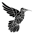 Humming-bird silhouette graphic drawing vector image