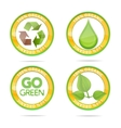 nature eco emblems vector image vector image