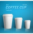 Coffee Cup Set Photorealistic 3D vector image